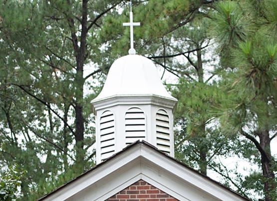 NC Wesleyan cross on chapel