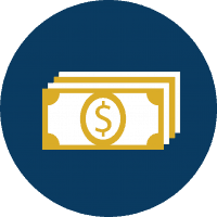 money graphic cost and aid icon