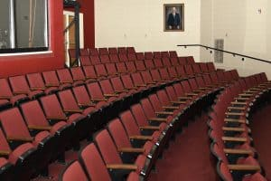 rows of seats in the Powers Recital Hall