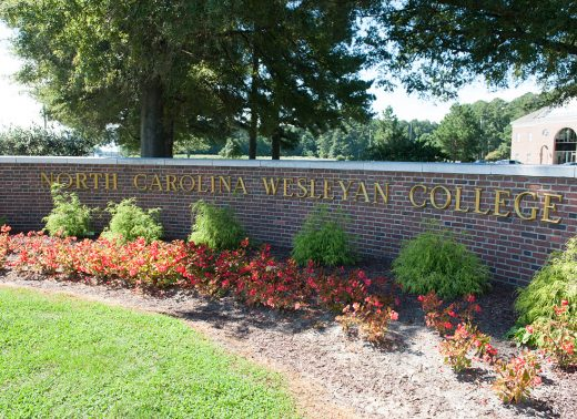North Carolina Wesleyan College brick wall