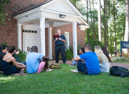 NC Wesleyan listen at chapel