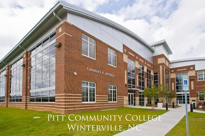 Pitt Community College, Winterville NC poster with picture of building