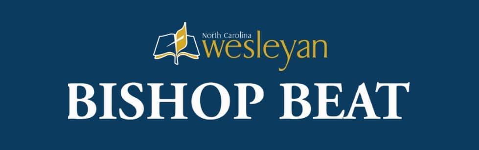 blue background North Carolina Wesleyan Bishop Beat graphic