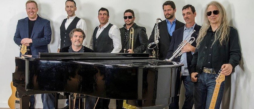 Chicago Rewired Band behind piano