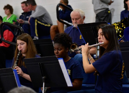 ncwc band at athletic game