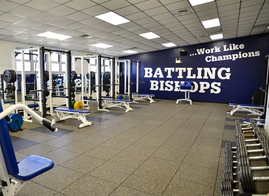 battling bishops weight room