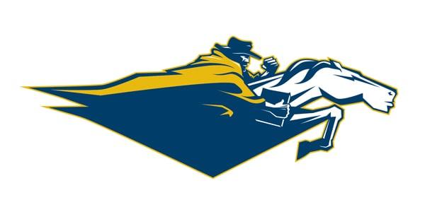 NC Wesleyan Horse Rider diamond Logo