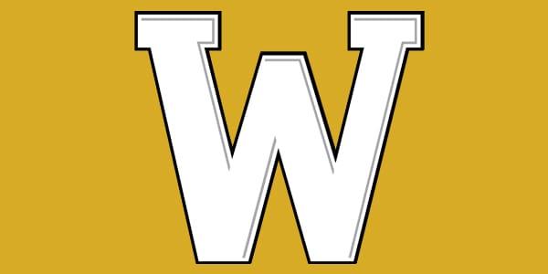 ncw W logo gold background