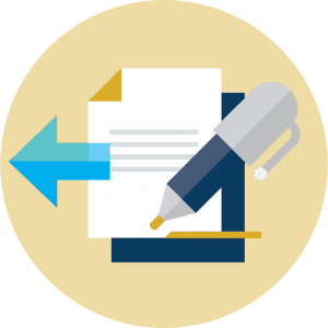 Checklist graphic admissions icon