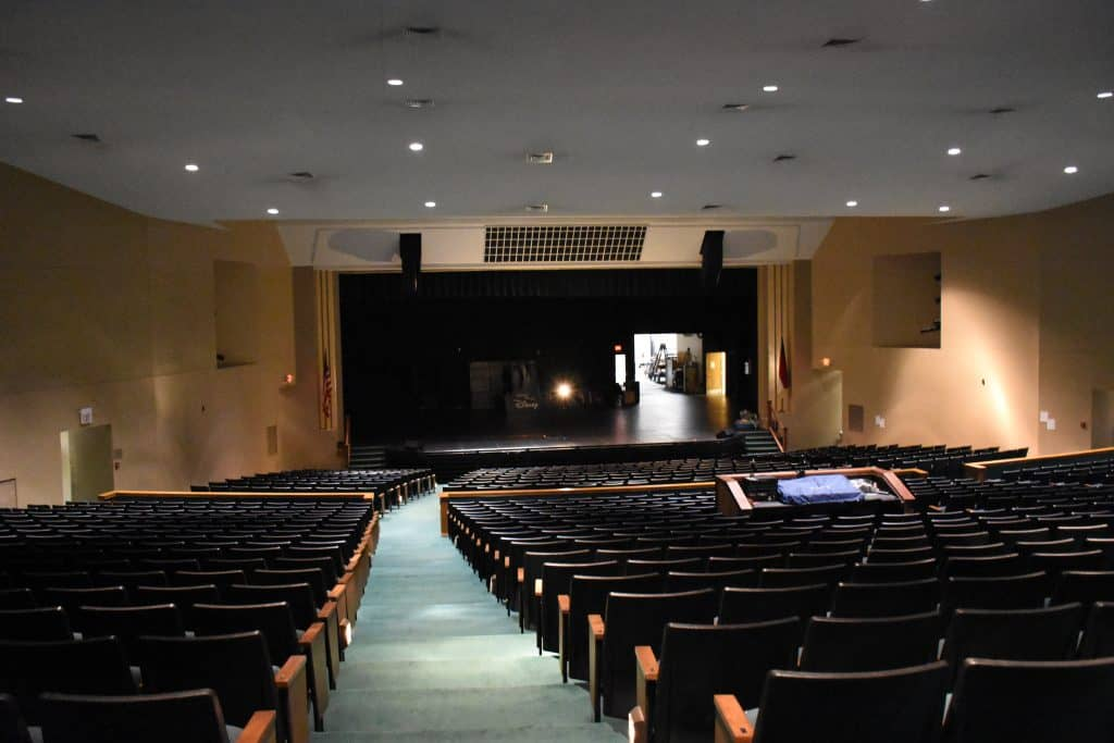 Main stage and auditorium in the Dunn Center