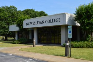 NC Wesleyan College adult studies building on Goldsboro Campus