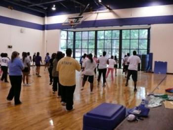 NC Wesleyan group fitness class