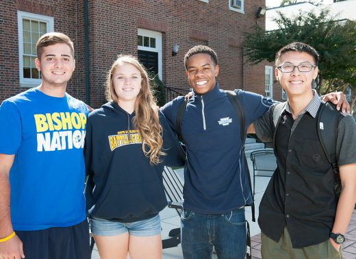 NC Wesleyan students on patio