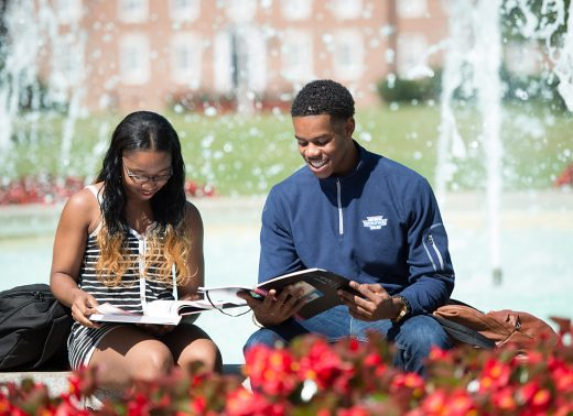 NC Wesleyan students read together