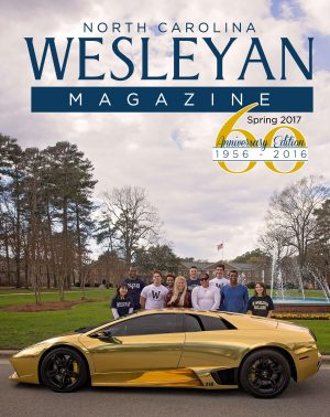 Magazine cover with gold car
