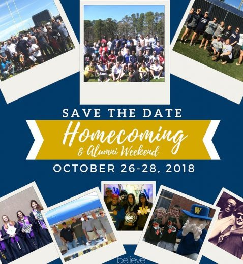 Homecoming 2018 Save the Date Flyer