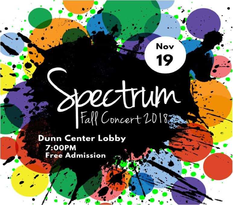 spectrum fall concert 2018 dunn center
