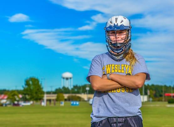ncwc women's lacrosse posing