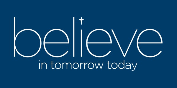 ncw branding believe logo navy background
