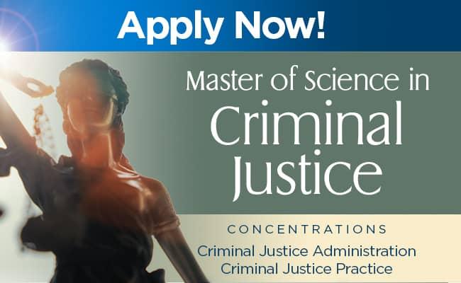 Criminal Justice Masters Program