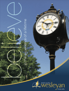 A brochure about NC Wesleyan college