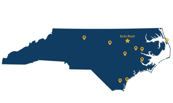 NC Wesleyan Campus Locations Map
