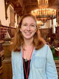 Katie Beeman student in cathedral