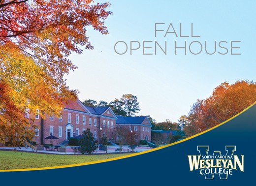 fall open house for NC Wesleyan