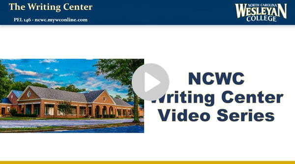 writing center you tube preview