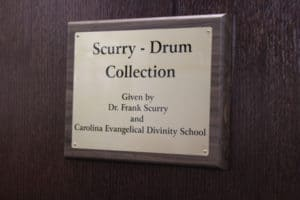 Scurry Drum Collection plaque