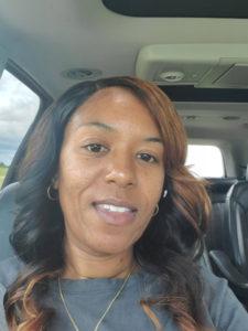 African American girl in car