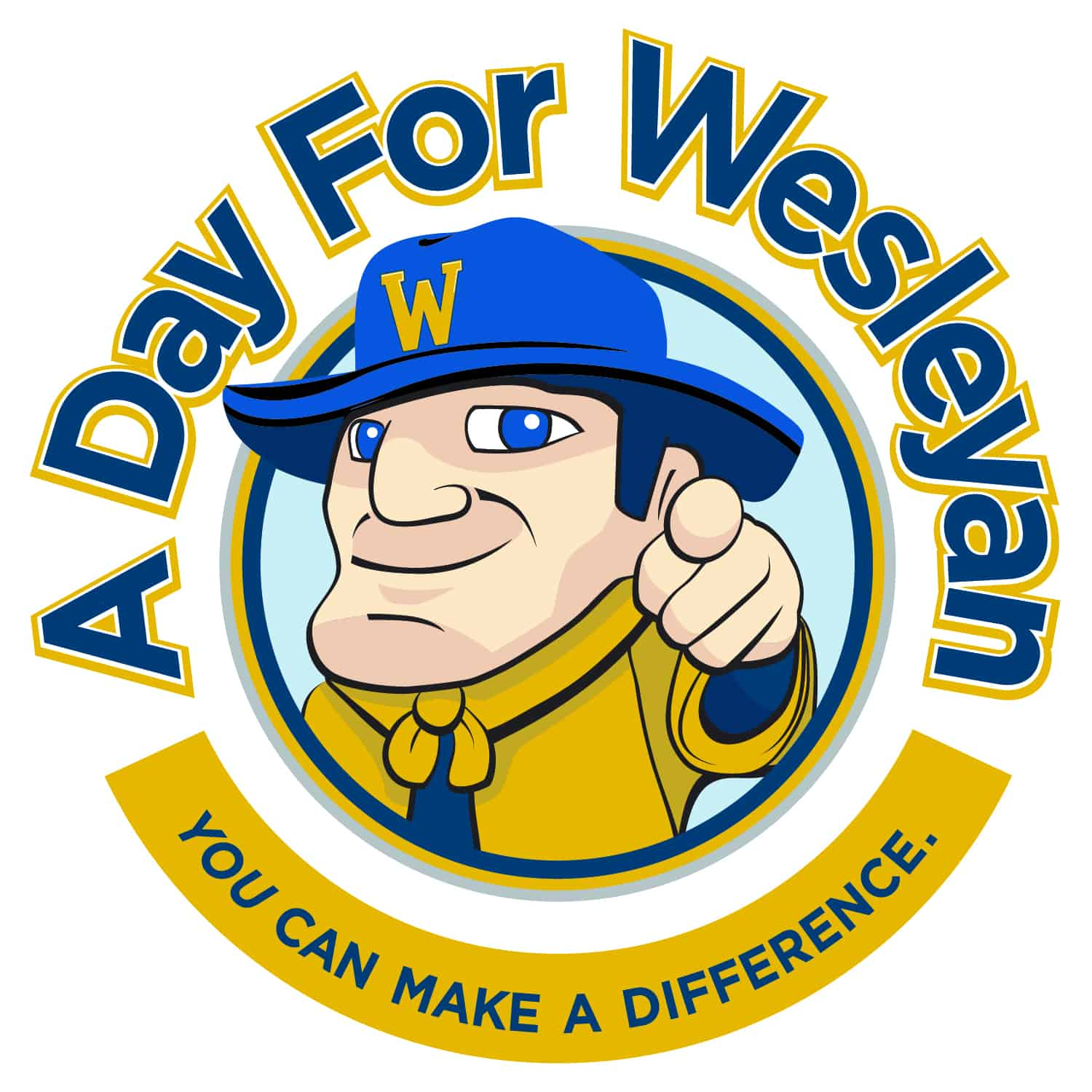 "A day for Wesleyan ""You can make a difference"" logo"