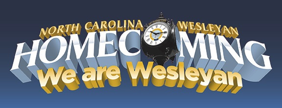 NC Wesleyan Homecoming We are Wesleyan graphic